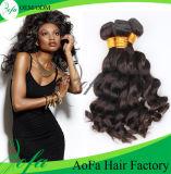 extensão brasileira do cabelo humano de Remy do Virgin da onda do corpo 7A