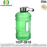 2.2L BPA освобождают бутылку воды PETG пластичную с ручкой, 1.89L подгонянная большая пластичная бутылка воды (HDP-0618)