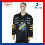 La teinture surdimensionnée de sport de Healong a sublimé l'hockey estampé Jersey