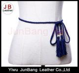 Microfiber ha intrecciato la cinghia con la nappa per il vestito dalle donne