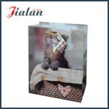 Bolsa de papel impresa animal barato lleno de encargo de la insignia de la impresión de las ventas al por mayor