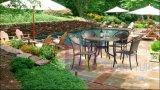 Het OpenluchtdieMeubilair van de Tuin van de Stijl van de vrije tijd met Rotan wordt geplaatst