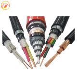Cable électrique blindé de câble de PVC de 4 noyaux
