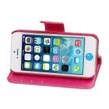 Caja de cuero de la PU de la cubierta del teléfono móvil para el iPhone