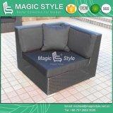 Sofà d'angolo di vimini del rattan del sofà del sofà del sofà semplice di vimini moderno stabilito esterno del patio impostato (stile magico)