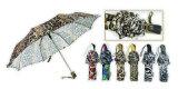 Falten-manueller heller Regenschirm der Tierhaut-Auslegung-3 (YS-3FM21083940R)