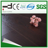 suelo del laminado de la madera dura de la superficie el repujado de Brown del Ce de 8m m