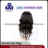 Cabelo humano de Remy da peruca brasileira da máquina