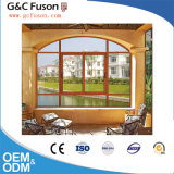 Fenêtre horizontale et verticale d'ouverture latérale coulissante en aluminium