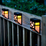 Lámpara sin hilos accionada solar del patio de la pared del jardín del paisaje del camino de la escalera de la luz blanca del paso de progresión del sensor de movimiento de 10 LED