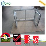 オーストラリア標準UPVCの二重ガラスの開き窓のWindows