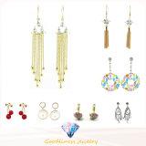女性白いCZ 18kの白い金の満たされた粋及びシャンデリアのイヤリングのギフトE6646のために縁が付く卸し売り宝石類の方法はぶら下がる