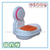 Cassetto dei supporti dei piatti di sapone dell'acquazzone della cucina della stanza da bagno dell'ABS della tazza di aspirazione