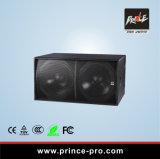 Dual a caixa passiva do altofalante de 18 polegadas para o estágio Subwoofer