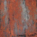 Azulejo de piso de cerámica negro rústico del metal del material de construcción de la porcelana (600X600m m)
