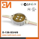 Éclairage CE/UL/FCC/RoHS (D-136) de la façade LED de médias