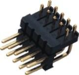 2.54mmの二重プラスチック単一の列180の° すくいPinヘッダ
