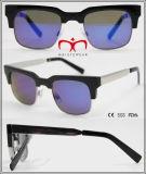 2016 lunettes de soleil de vente chaudes à la mode avec la tempe en métal (WSP601523)