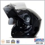 Shining черный двойной Flip забрала вверх по шлему (LP504)