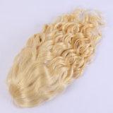 厚く、柔らかい金髪130の密度の完全なレースのかつらのGluelessのブラジルの完全なレースの人間の毛髪のかつらのブロンドの自然な波のかつら