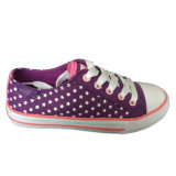 新しい方法安い品質の昇進の紫色かピンクのズック靴のスニーカー