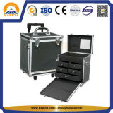 Best Buy Trolley Aluminium Rolling Makeup Train Case (HB-1305)
