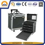 最もよい販売のトロリーアルミニウム圧延の構成のトレインケース(HB-1305)