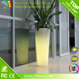 Vaso de flor do diodo emissor de luz/potenciômetro de flor/jardim iluminados plástico Using o potenciômetro
