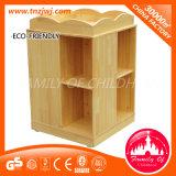 Preschoolのための子供Movable Shelf Log Wood Cabinet