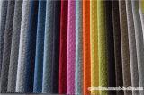 Tissu gravé en relief de polyester de velours pour le capitonnage de sofa