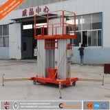 Гидровлический подъем человека 3 рангоутов вертикальный телескопичный один/алюминиевый подъем человека