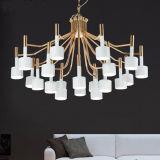 iluminação de suspensão decorativa da lâmpada do candelabro do pendente do metal 12-Lights moderno para a sala de visitas