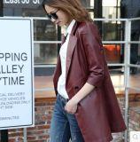 Женщин куртки неподдельной кожи Haining пальто кожи овец длинних реальное