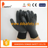 Ddsafety 2017 Hot Sale Nylon Polyester Liner Coated Crinkle Latex Work Glove