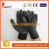 La doublure en nylon de polyester de vente chaude de Ddsafety a enduit le gant Dnl119 de travail de latex de pli
