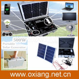 500W portatif Solar Home Power System Briefcase Solar Generator pour Fans TV et Lighting