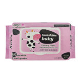 80PCS Embalaje Baby Wipes China fabricante