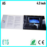 4.3inch personalizado Tarjeta de visita de vídeo LCD de impresión de vídeo Folleto