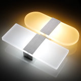 6W Square Acrylic Wall Lighting for Home