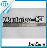 El coche modificado para requisitos particulares de la vendimia simboliza la etiqueta engomada brillante de la insignia del metal de los deportes de los emblemas de la motocicleta