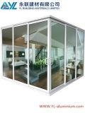 Doble puerta de vidrio de aluminio para puerta corrediza de esquina