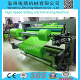 Wenzhou High Speed Nonwoven Roll zu Roll Slitting und zu Rewinding Machine