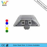 Weiße AluminiumKatzenauge-Straßen-Markierung der sonnenenergie-4PCS LED