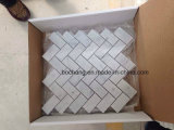 White statuario Marble Mosaic Tiles per Bathroom e Kitchen