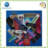 Profissional etiqueta tecida vestuário do produto na alta qualidade (JP-CL126)