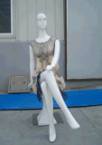 De Vrouwen van de Ledenpop van de glasvezel zitten Houding