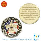 Polícia personalizada do lado 3D de qualidade superior comemorativa ou moeda da lembrança no metal