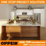 Laque de projet d'Oppein Amérique et Modules de cuisine à haute brillance de PVC (OP14-PVC05)