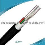 Câble fibre optique Non-Blindé de tube de GYFTY de porteur central de câble non métallique desserré de fibre échoué par câble de fibre optique