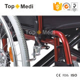 Topmedi Alumium Folding Manual Wheelchair с Swing Away Footrest